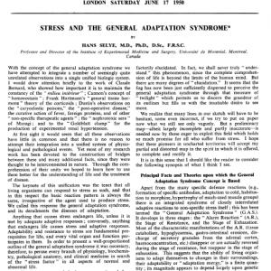 dr Hans Selye - Stres i reakcja stresowa - Fazy stresu