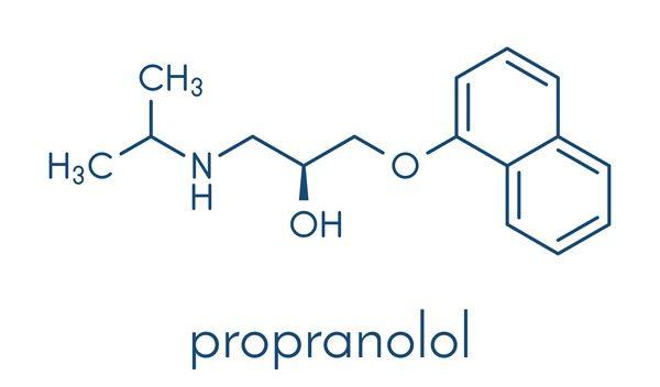 Propranolol struktura