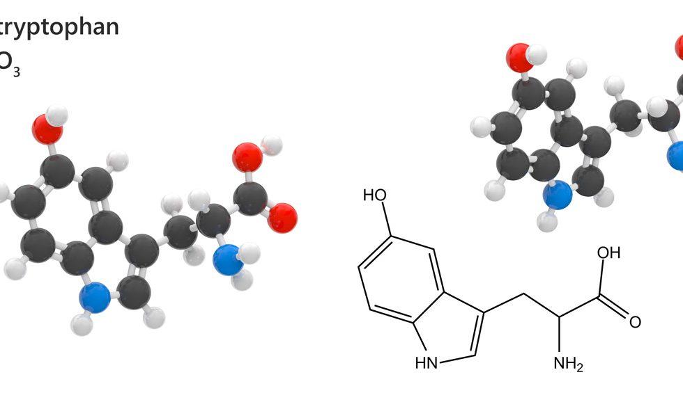 Struktura 5-HTP - suplement na sen i lepszy nastrój